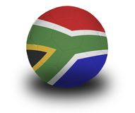 Zuidafrikaanse Voetbal royalty-vrije stock afbeelding