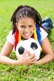Zuidafrikaanse voetbalventilator Stock Foto's