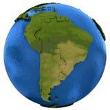 Zuidamerikaans continent ter wereld Stock Afbeeldingen