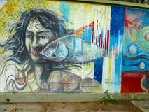 Zuidamerikaanse straatkunst, Venezuela Stock Foto's