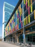 Zuidas-Gebäude Som und Vinoly ragen, Amsterdam, die Niederlande hoch Stockfotos