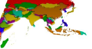 Zuidelijk Azië Royalty-vrije Illustratie