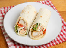 Zuidelijk Fried Chicken Wrap Sandwich Royalty-vrije Stock Foto's