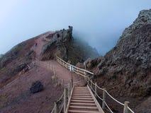 Zuidelijk Italië, op de top van de Vesuvius Stock Foto