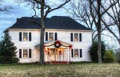 Zuidelijk Kerstmishuis van het Land Royalty-vrije Stock Foto's