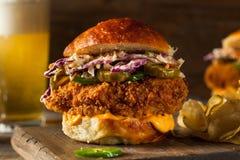 Zuidelijk Land Fried Chicken Sandwich stock fotografie