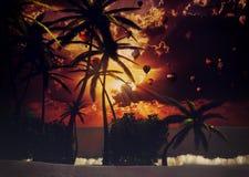 Zuidelijk tropisch strand Stock Afbeeldingen