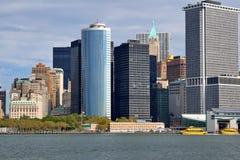 Zuidelijk Uiteinde van Manhattan Stock Foto