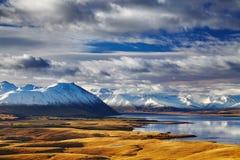Zuidelijke Alpen, Nieuw Zeeland stock foto