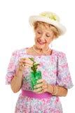 Zuidelijke Dame met Muntmedicijndrankje royalty-vrije stock foto's