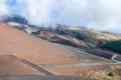 Zuidelijke flank van Onderstel Etna royalty-vrije stock foto's