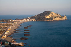 Zuidelijke Italië-Miliscola en Capo Miseno stock afbeeldingen