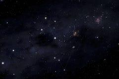 Zuidelijke kruis en Musca-constellaties royalty-vrije stock afbeelding