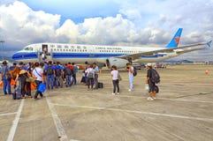 Zuidelijke luchtvaartlijnen van de Shenzhen de internationale luchthaven Stock Afbeeldingen