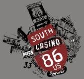 zuiden casino royalty-vrije illustratie