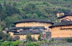 Zuiden Chinese traditionele woonplaats, Aardekasteel Stock Fotografie