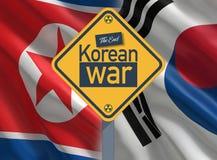 Zuiden en de Oorlog van Noord-Korea royalty-vrije illustratie