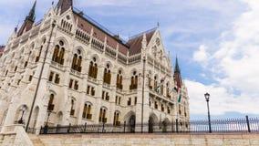 Zuiden façade van het Hongaarse Parlementsgebouw - Boedapest royalty-vrije stock fotografie