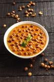 Zuiden Indische cuisine- kulambu van Vatha stock foto