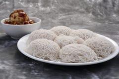 Zuiden Indische keuken =Idiyappam stock afbeelding