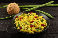 Zuiden Indische keuken - Moringa thoran royalty-vrije stock foto's