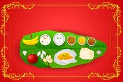 Zuiden Indische maaltijd voor Onam-festival Royalty-vrije Stock Afbeelding
