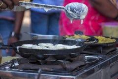 Zuiden Indische snack aape, Kolhapur, Maharashtra stock afbeeldingen