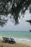 Zuiden overzeese kust Stock Foto's
