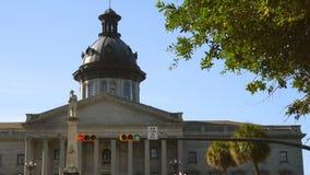Zuiden Van de binnenstad Carolina State House Capital van einde het Lichte Colombia stock footage