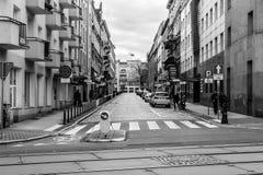 Zuidenmening over Nowowiejskiego-Straat Royalty-vrije Stock Foto