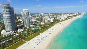 Zuidenstrand, het Strand van Miami florida stock footage