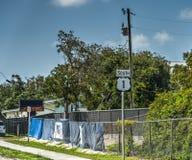 1 zuidenteken op weg Overzee in de Sleutels van Florida stock fotografie