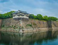 Zuidentoren van Osaka Castle andere hoek Stock Foto's