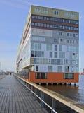 Zuidenvoorgevel van Silodam, Amsterdam, Nederland royalty-vrije stock afbeelding