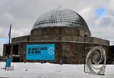 Zuidenweergeven van Adler-Planetarium stock foto