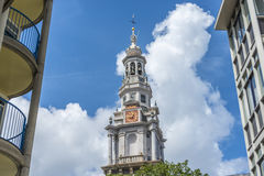 Zuiderkerk在阿姆斯特丹,荷兰 免版税图库摄影
