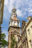 Zuiderkerk, церковь в зоне Nieuwmarkt Амстердама Стоковое Изображение RF