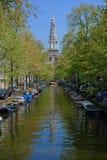 zuiderkerk de tour d'horloge Photographie stock