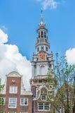 Zuiderkerk i Amsterdam, Nederländerna Arkivbilder