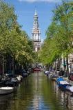 Zuiderkerk (iglesia meridional) en Amsterdam Foto de archivo libre de regalías