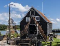 Zuiderzee-Museum Enkhuizen und Fischereiausrüstung Lizenzfreie Stockbilder