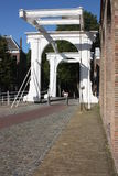 The Zuidhaven port is one of the three city gates of the Dutch city of Zierikzee. Royalty Free Stock Photos