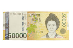 Zuidkoreaans geld Stock Fotografie