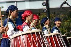Zuidkoreaans Trommelfestival Stock Afbeeldingen