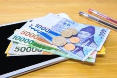 Zuidkoreaanse gewonnen munt en financiënzaken Stock Fotografie