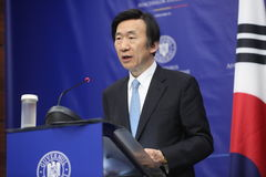Zuidkoreaanse Minister van Buitenlandse Zaken Yun Byung-Se Stock Foto