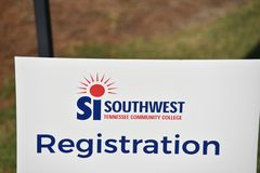 Zuidwesten Tennessee Community College Registration Day Memphis, TN royalty-vrije stock foto