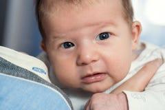 zuigeling Portret van baby dichte omhooggaand royalty-vrije stock afbeelding