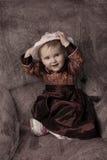 Zuigeling in uitstekende stijl Royalty-vrije Stock Fotografie