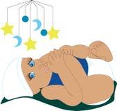 Zuigende Teen 1 van de baby Stock Foto